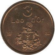 3 Leo d'Or – obverse