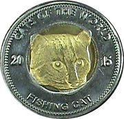 25 Shillings (Fishing cat) – reverse