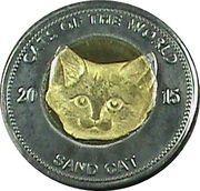 25 Shillings (Sand cat) – reverse