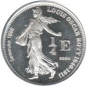 ¼ Euro (French Southern & Antarctic Territories Euro Fantasy Token) – reverse