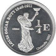 ¼ Euro (French Guyana Euro Fantasy Token) – reverse