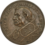 Establishment of the fort at Civitavecchia to fight of the pirates from Africa - Julius II – obverse