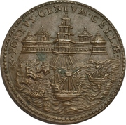 Establishment of the fort at Civitavecchia to fight of the pirates from Africa - Julius II – reverse