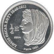 ¼ Euro (St. Barthelemy Euro Fantasy Token) – reverse