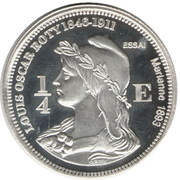 ¼ Euro (St Pierre et Miquelon Euro Fantasy Token) – reverse