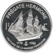 1½ Euro (St. Barthelemy Euro Fantasy Token) – reverse