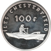 100 Francs (Îles Chesterfield) – reverse