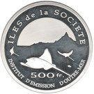 500 Francs (Society Island) – reverse