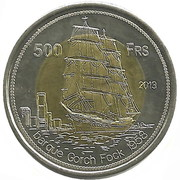 500 Francs Gorch Fock – reverse