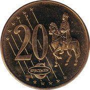 20 Cent (Cyprus Euro Fantasy Token) – reverse