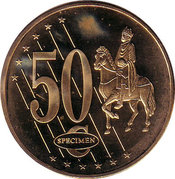 50 Cent (Cyprus Euro Fantasy Token) – reverse