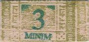 3 Minim – obverse