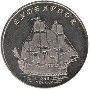 1 Dollar (Endeavour) – reverse