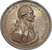 Naval victory, Glorious First of June - Admiral Earl Howe – obverse