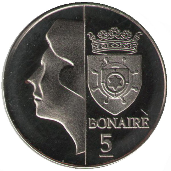 Plant flower coin 2011 Bonaire 5 cents