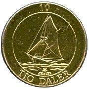 10 Daler – reverse