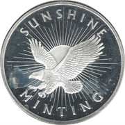 1 oz silver (Sunshine Silver) – obverse