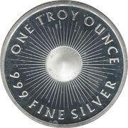 1 oz silver (Sunshine Silver) – reverse