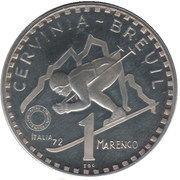 1 Marengo (Cervinia-Breuil) – obverse
