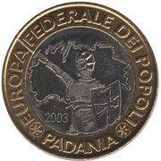 1 (Repubblica Federale di Padania) – reverse