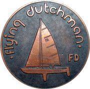 Medal - Olympic Games 1980 Moscow (Tallinn 80 - Flying dutchman; Estonia) – obverse