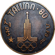 Medal - Olympic Games 1980 Moscow (Tallinn 80 - Flying dutchman; Estonia) – reverse
