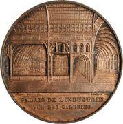 Medal - Napoleon III (Palais de l'industrie - vue des galeries) – reverse