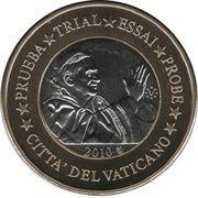 1 E (Vatican City Euro Fantasy Token) – obverse