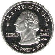 1 Peseta (San Juan) – obverse