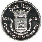 1 Peseta (San Juan) – reverse