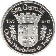 1 Peseta (San Germán) – reverse