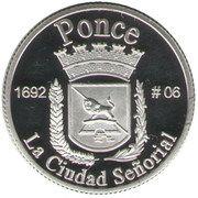 1 Peseta (Ponce) – reverse