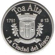 1 Peseta (Toa Alta) – reverse
