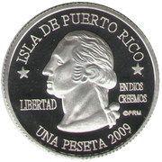 1 Peseta (Mayagüez) – obverse