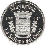 1 Peseta (Mayagüez) – reverse