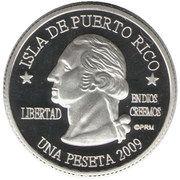 1 Peseta (Rincón) – obverse