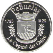 1 Peseta (Peñuelas) – reverse
