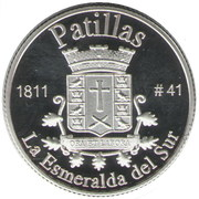 1 Peseta (Patillas) – reverse