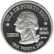 1 Peseta (Santa Isabel) – obverse