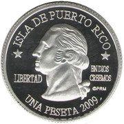 1 Peseta (Salinas) – obverse