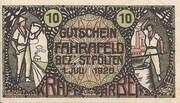 10 Heller (Fahrafeld) – obverse