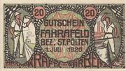 20 Heller (Fahrafeld) – obverse