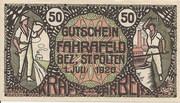 50 Heller (Fahrafeld) – obverse