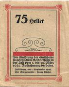 75 Heller (Feldkirchen am Inn) -  reverse