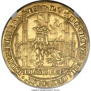 Lion heaumé d'or - Louis II de Mâle - Ghent Mint – obverse