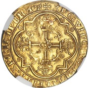 Léopard d'or - Edward III - 3rd Issue – reverse