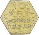 10 Øre (S. P. Petersens EFTF; Big letters) – obverse