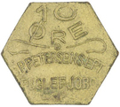10 Øre (S. P. Petersens EFTF; EPTF instead of EFTF) – obverse