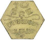 10 Øre (S. P. Petersens EFTF; EPTF instead of EFTF) – obverse