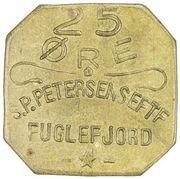 25 Øre (S. P. Petersens EFTF; Big letters) – obverse